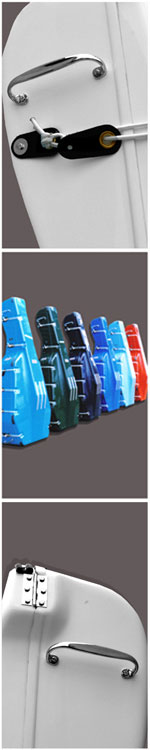 Alan Stevenson Cases_Bass Cases_Catch Colour and Handle Details